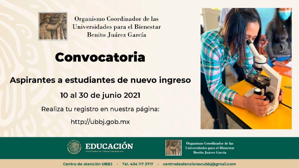 Convocatorias UNIVERSIDAD BIENESTAR BENITO JUAREZ