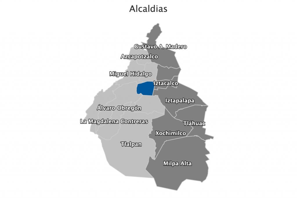 Mapa de alcaldías CDMX