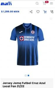 jersey cruz azul marti 2021