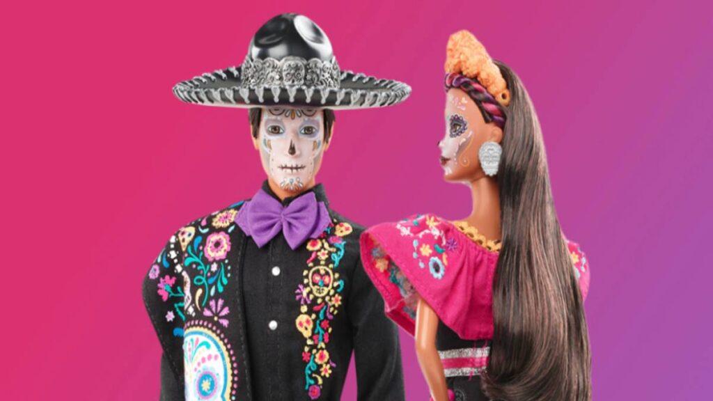 Barbie y Ken de Día de Muertos